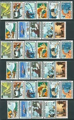 AUSTRALIAN ANTARCTICA : 1966-8. Stanley Gibbons #8-18. 5 sets VF MNH Cat £210