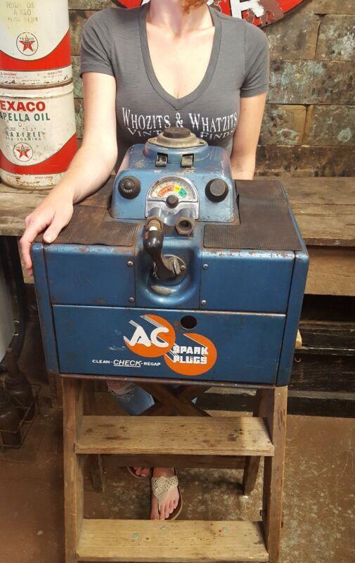 Vintage AC Vintage Spark Plug Cleaner And Tester Ac Advertising Display