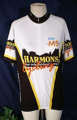Blk White Red Yellow VOMAX MS Bike Team Harmon s 2008 Cycling Jersey M 3 a5a18f0da