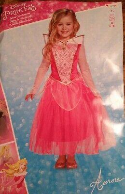 Disney Princess Aurora COSTUME DRESS Gown Pink Medium 7/8Dress Up Excellent](Disney Dress Up Princess)