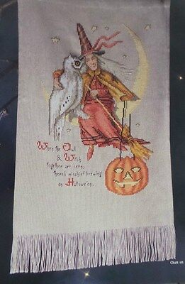 Cross Stitch Halloween WITCH PUMPKIN OWL Sampler + 5 PUMPKIN Design PATTERN  - Owl Halloween Pumpkin Patterns