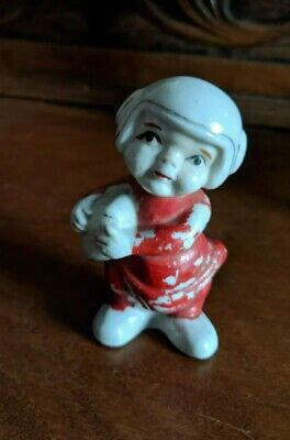 - Football Player Figurine Made in Japan Vintage with Helmet and Footbal