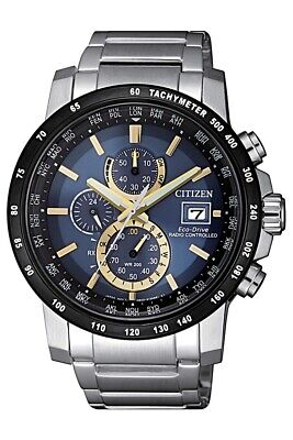 Citizen Men's Eco-Drive Radio Controlled Chronogrpah 43.5mm Watch AT8124-83M