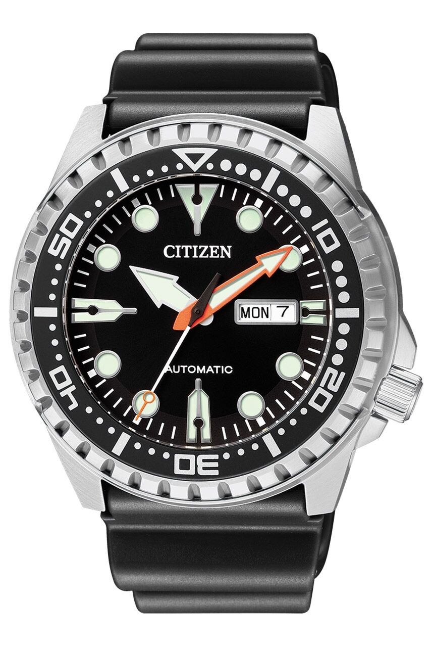 CITIZEN NH8380-15E Automatic Analog Day-Date Black Stainless Steel Men's Watch