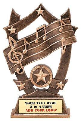MUSIC KARAOKE SINGING RECOGNITION AWARD TROPHY FREE TEXT  M*RCS133