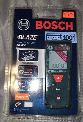 Bosch Glm 30 100ft Laser Measure New