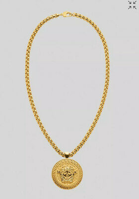 Versace single Medusa necklace chain SS20 immaculate condition! MSRP $925