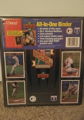 - Mead 1993 Upper Deck Baseball Binder Portfolio Trading Cards MLB NEW VTG