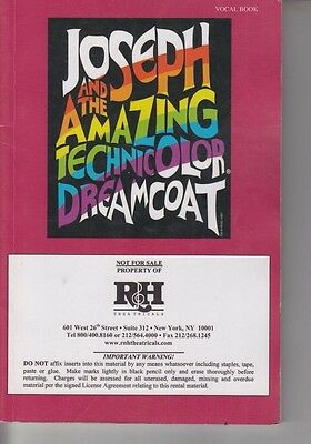 RH Theatricals Joseph And The Amazing Technicolor Dreamcoat Vocal Book