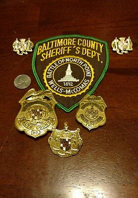 Obsolete Defunct Baltimore County Maryland MD Deputy Sheriff lot