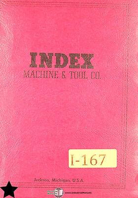 Index Wells Model 45 Vertical Milling Parts List Manual 1959