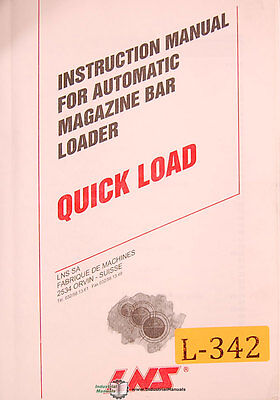 Lns Quickload Automatic Bar Loading System Operations And Parts Manual 1996