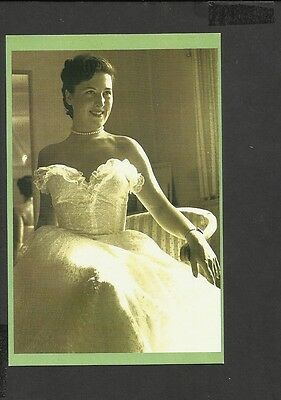 Nostalgia Postcard A Sales Girl Models a Gown of Nottingham Lace 1952