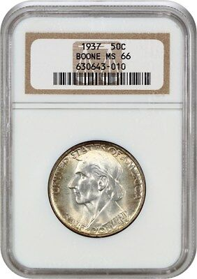 1937 Boone 50c NGC MS66 - Low Mintage Issue - Silver Classic Commemorative