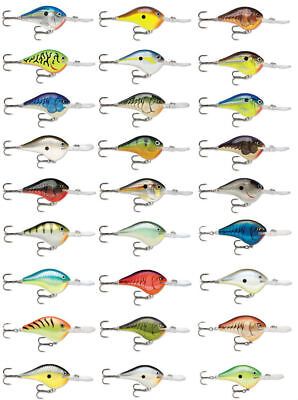 Rapala Dives-To Series DT10 2 1/4 inch Balsa Wood Crankbait Bass Fishing Lure 1 Inch Lure