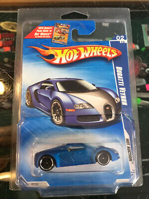 HOT WHEELS DIECAST CAR 2010 SATIN BLUE BUGATTI VEYRON UNOPENED RARE