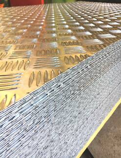 Aluminium Sheet & Extrusions - Tread plate Flat Square Box Angle