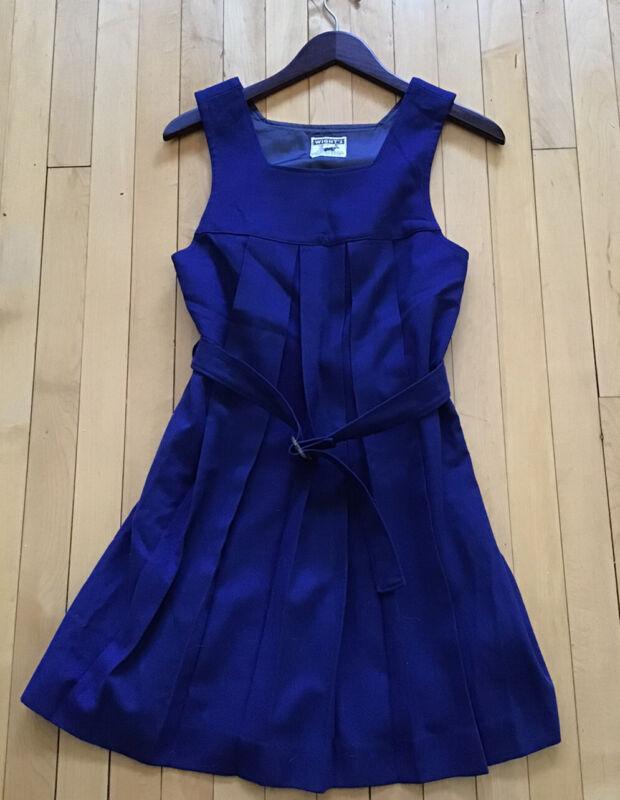 Vintage 1940s 50s Blue Wool Ladies Girls Athletic Gym Sports Uniform Pristine S