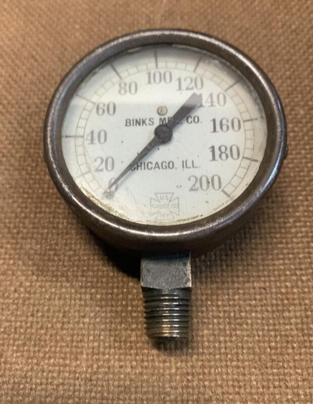 Vintage U.S. Gauge Co.  Binks Mfg. Chicago ILL Steampunk