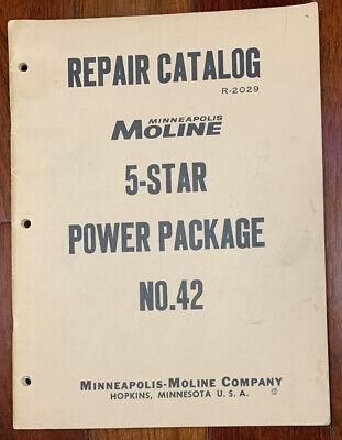 Minneapolis Moline 5-star Power Package No 42 Repair Catalog Manual R-2029