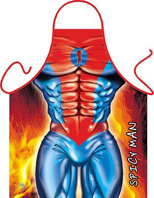 Schürze für Männer Bodybuilder scharf Küche Grillschürze SPICY MAN (GR-22843)