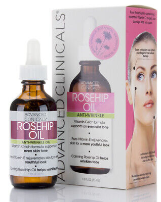 Advanced Clinicals Rosehip Oil Anti-wrinkle 1.8 Fl Oz.