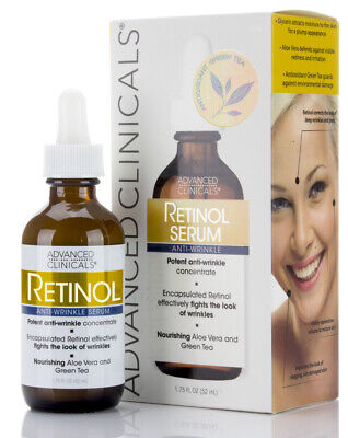 Advanced Clinicals Professional Retinol Serum. Anti-aging, W