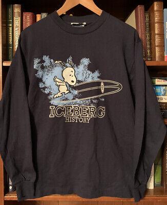 Men's Snoopy Iceberg History Iceberg Jeans  Shirt 100% Cotton Italy Blue Small