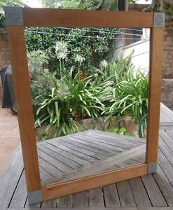 Contemporary Pine Frame Wall Mirror St Leonards Willoughby Area Preview