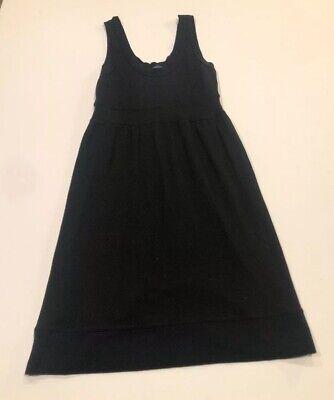 Anthropologie Velvet black dress women's size large