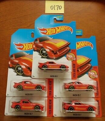 Hot Wheels 2017 KDay Kmart Exclusive Lot of 5 Red Mazda RX-7