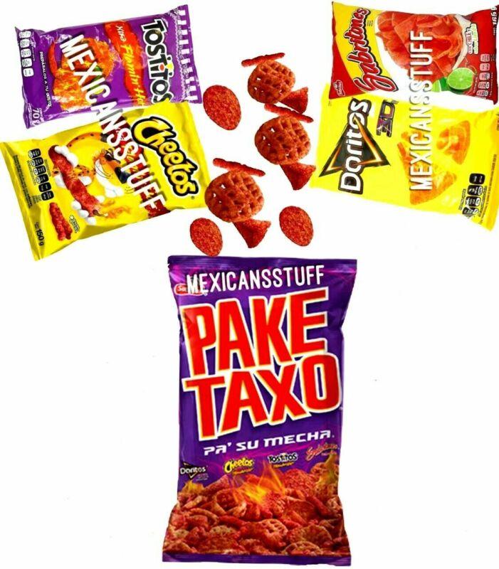 PAKETAXO (73 G EACH) Mexican CHIPS MIX Sabritas (FLAMING HOT) 4, 5, 6, 7, 8, 9, 10 BAG