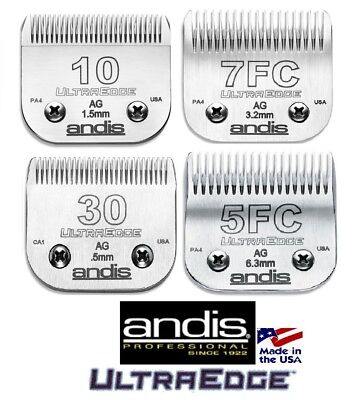 And Is Ultraedge Blade Set (SET-ANDIS ULTRAEDGE 10,30,7FC,5FC BLADE*Fit AGC,Oster A5,Many Wahl,Moser Clipper )