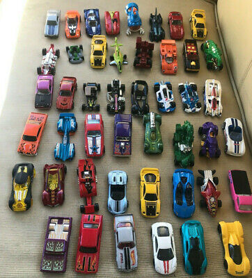 Lot of 46 Mattel Hot Wheels Various Years Makes Models 1980's 1990's Loose Cars