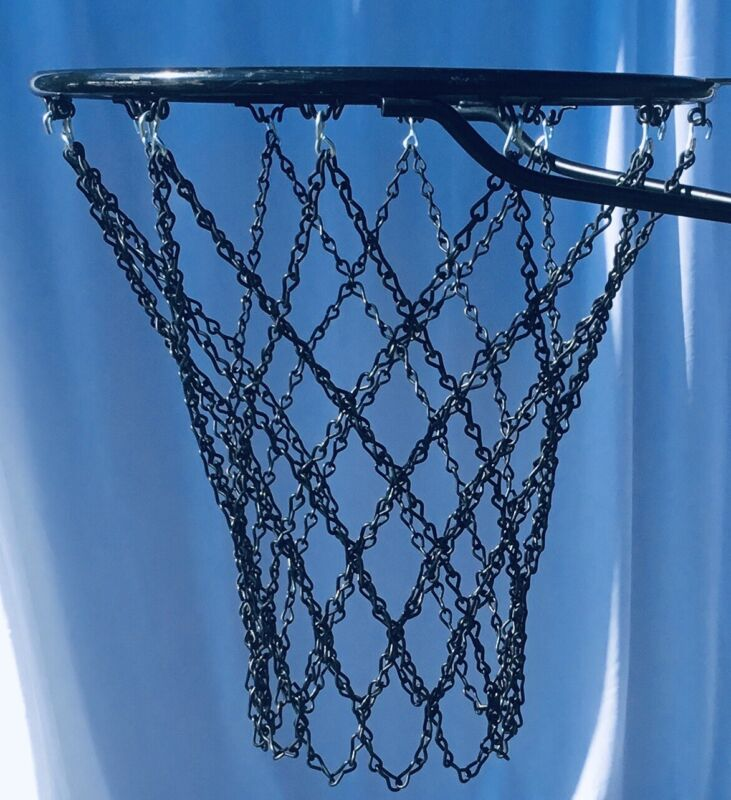 Basketball Chain Net All Black Diamond Pattern Hand Crafted.