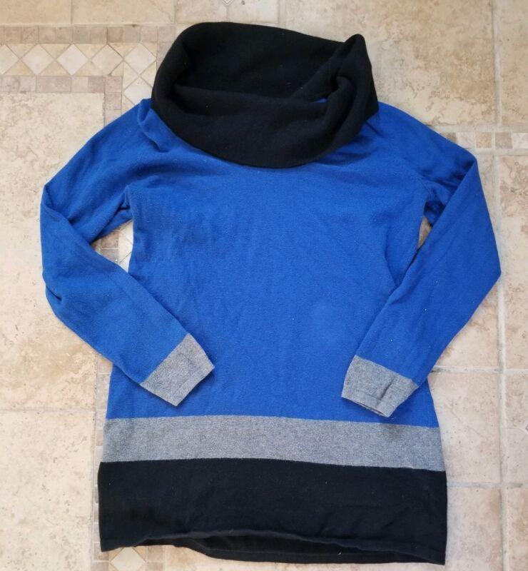 Womens Motherhood Turtleneck Sweater Colorblock Maternity Size Small