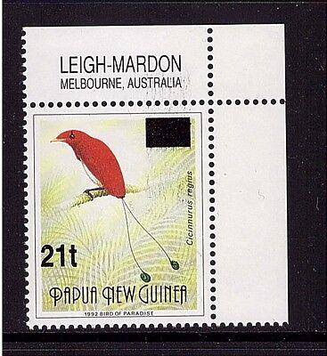 Papua Neuguinea,746 I  III, Königsparadiesvogel 1995 seltenste Type postfrisch