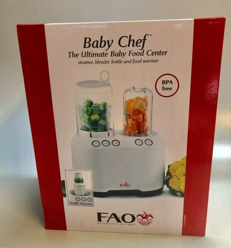 FAO Schwarz Baby Chef Ultimate Baby Food Center Cooker Food Processor