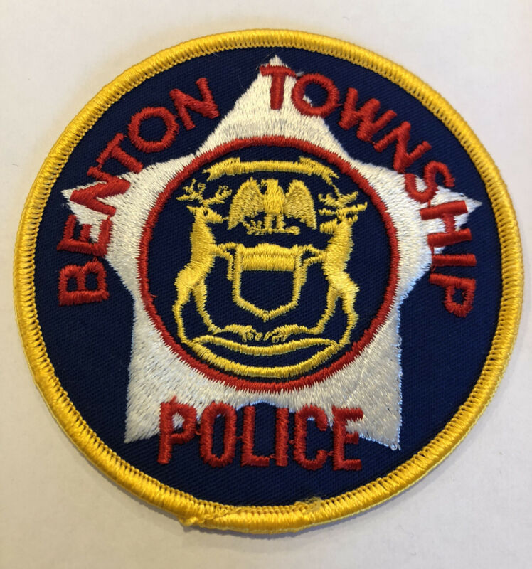 Benton Township Michigan Police Patch ~ New Condition