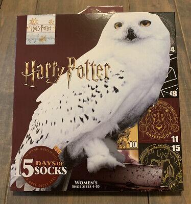 NEW Harry Potter WB 15 Days Of Sock Mystery Advent Calendar Women's Size: 4-10