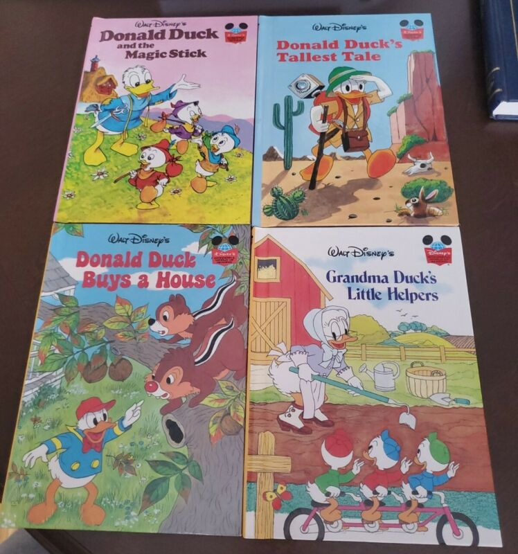 Vintage Disney's Wonderful World Of Reading Donald Duck Books Lot of 4