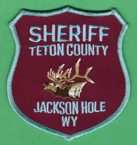 TETON COUNTY SHERIFF WYOMING SHOULDER PATCH