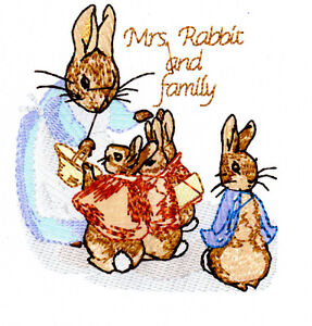 MACHINE EMBROIDERY DESIGNS - PETER RABBIT & FRIENDS