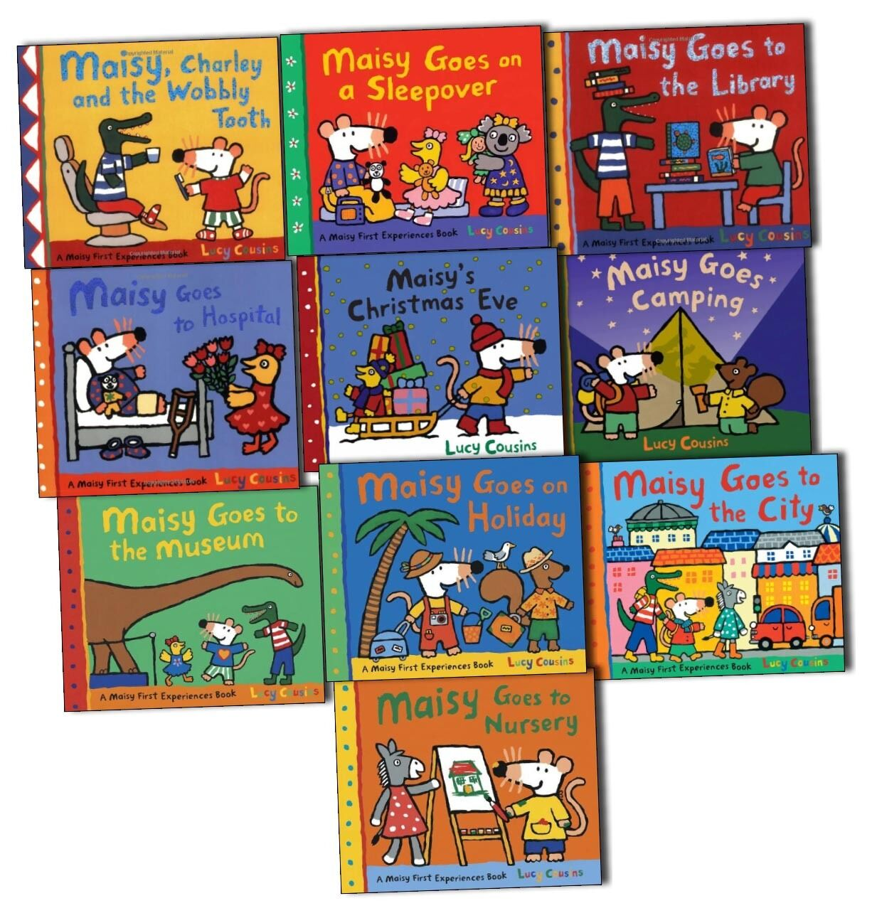Lucy Cousins Maisy First Experiences 10 Books Collection Pack Set
