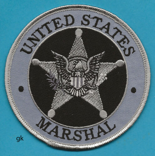 """US MARSHAL  POLICE SHOULDER PATCH POLICE  (Gray 4"""")"""