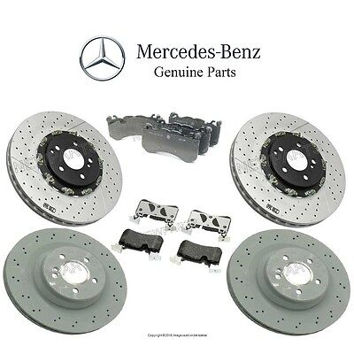 NEW Mercedes W219 CLS63 AMG 07-11 GENUINE Front & Rear Brake KIT Rotors and Pads