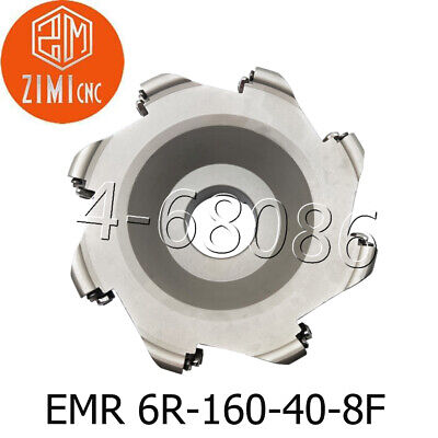 Emr 6r-160-40-8f 160mm 6 Round Indexable Face Milling Cutter For Rpmt1204
