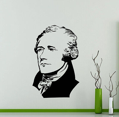 Alexander Wall (Alexander Hamilton Wall Decal American Vinyl Sticker Art Decor Mural (478xx) )