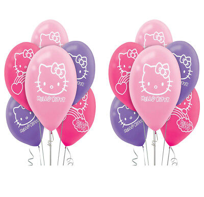 Hello Kitty Rainbow Latex Balloons Girls Birthday Party Decoration Supplies 12ct - Hello Kitty Party Supply