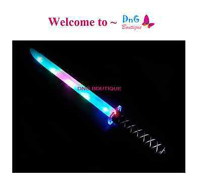 2 Ninja Pirate Light Up Sword LED Motion Activated Sound Flashing star wars life - Led Light Sword